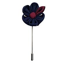 Lapel Pins/Brooch Pins, Navy Blue & Maroon