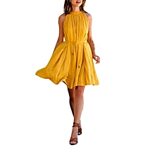 Women Summer Dress Women's Sleeveless Beach Party Casual Dress