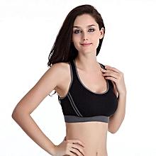 Women Padded Bra Top Athletic Vest Gym Fitness Sports Yoga Stretch BK/S-Black/S