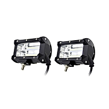 2pcs 5INCH 72W Two Rows Led Light Bar Modified off-road Lights Roof Light Bar