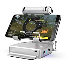GameSir X1 BattleDock Keyboard and Mouse Converter Stand Portable Phone Holder for PUBG / FPS Games   SILVER