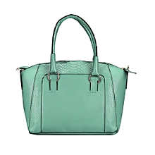 Women Shoulder Bag Faux Leather Satchel Crossbody Tote Handbag Green