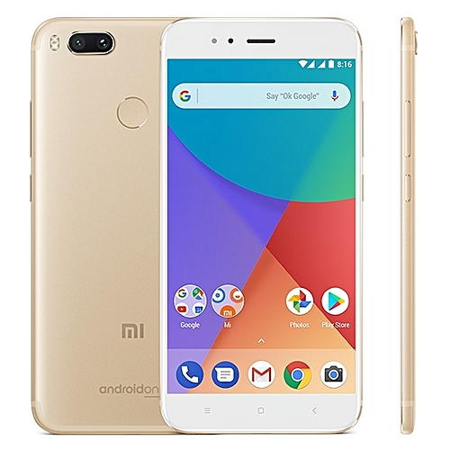 Mi A1 4GB+64GB Global Official Version Dual Back Cameras 5.5 Inch Android 7.1 Qualcomm Snapdragon 625 Octa Core 2.0GHz Dual SIM 4G Smartphone(Gold)