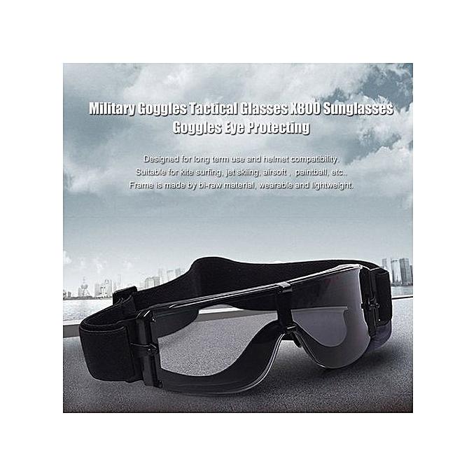 c81068b9830 ... UL Military Goggles Tactical Glasses X800 Sunglasses Eye Protecting  Black ...