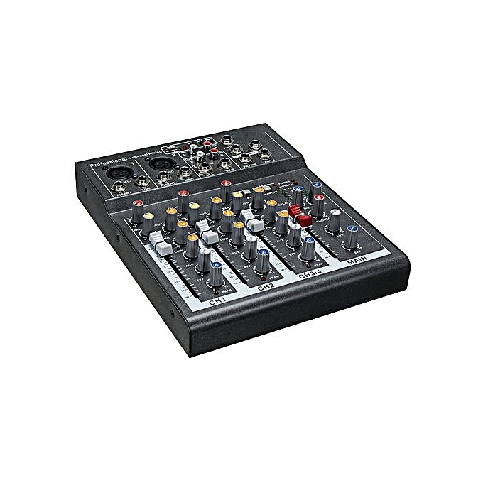 generic professional 4 channels dj mixer sound mixing console with usb mp3 jack live audio mixer. Black Bedroom Furniture Sets. Home Design Ideas