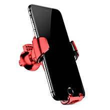 Gravity Air Vent Car Mount 360 Degree Rotation Phone Holder Cradle - Red