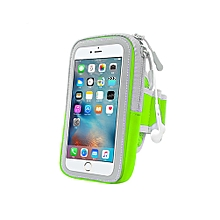 Multifunctional Outdoor Fitness Sports Arm Band Phone Holder Bag for iPhone 8-Green