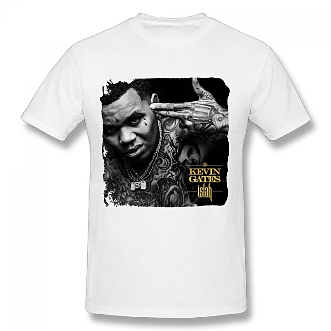 Kevin Gates Islah Men's Cotton Short Sleeve Print T-shirt White
