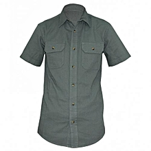 Green Mens Short Sleeved Shirts