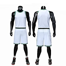 Customized Fashion Children Boy And Men's Basketball NBA Team Training Sports Jersey Set-White