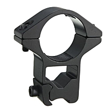 Tactical High Profile Scope Rings 11mm Dovetail Weaver Rail Mount 2 Pcs 25mm (Black)