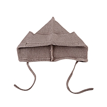 Baby Tie Ear Knitted Hat - Coffee
