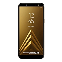 Galaxy A6 (2018) 5.6-Inch AMOLED (4GB, 64GB ROM) Android 8.0 Oreo, 16MP + 16MP Dual SIM 4G Smartphone - Gold
