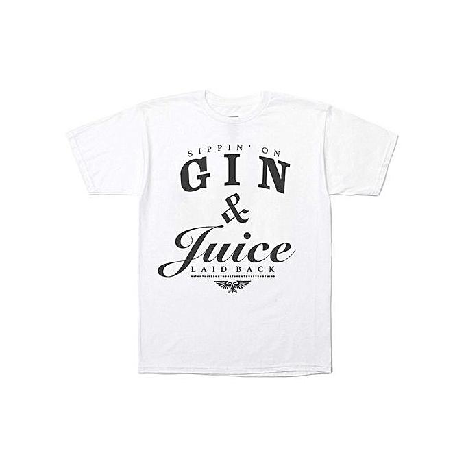 2af171d2 Fashion Fashion Men's T-Shirt Snoop Dogg Gin And Juice T-shirt Hip ...