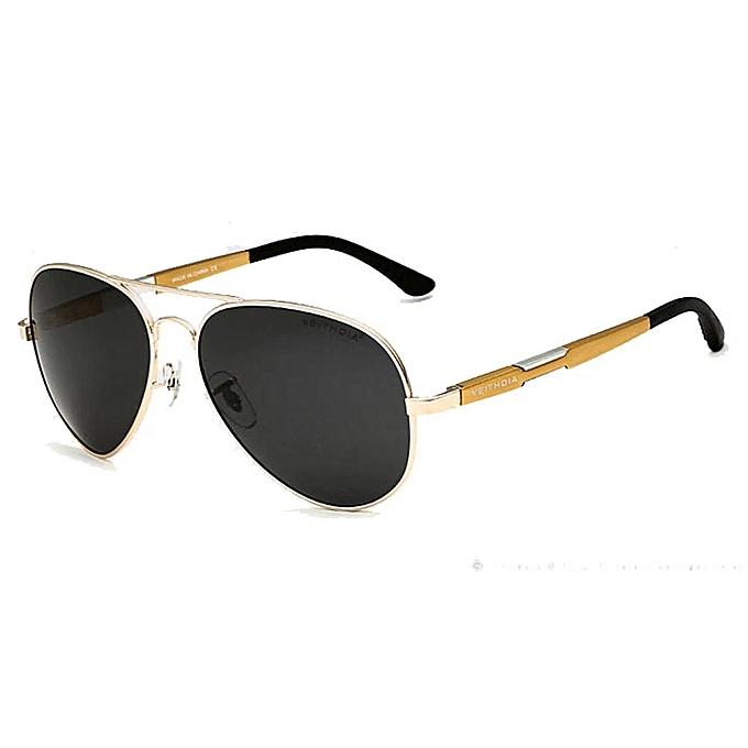 851c02e17d VEITHDIA Aluminum Magnesium Men s Sunglasses Polarized Sun Glasses Fishing  Outdoor Eyewears Accessories 6695 (Gold