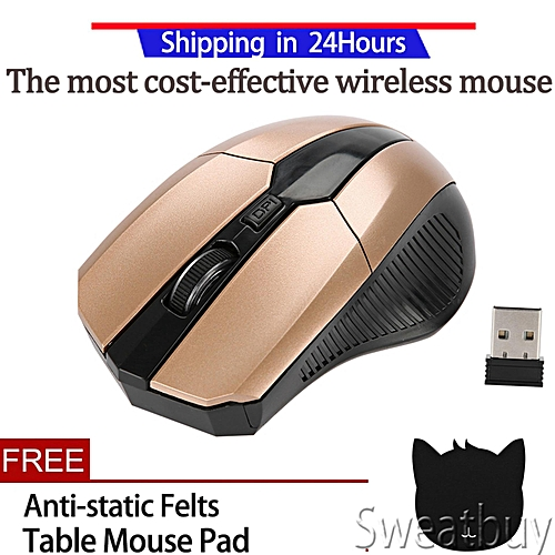 78ce4a3a03d Generic 【Buy 1 Get 1 Free Gift】Portable 2.4G Optical Wireless Mouse  Adjustable DPI USB Receiver Office Gaming Mouse For PC