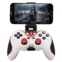 2 pcs Wireless Bluetooth Gamepad Gaming Controller for Android Smartphone Tablet PC#White