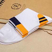 Men Cotton Blend Sports Basketball Colors Patchwork Socks