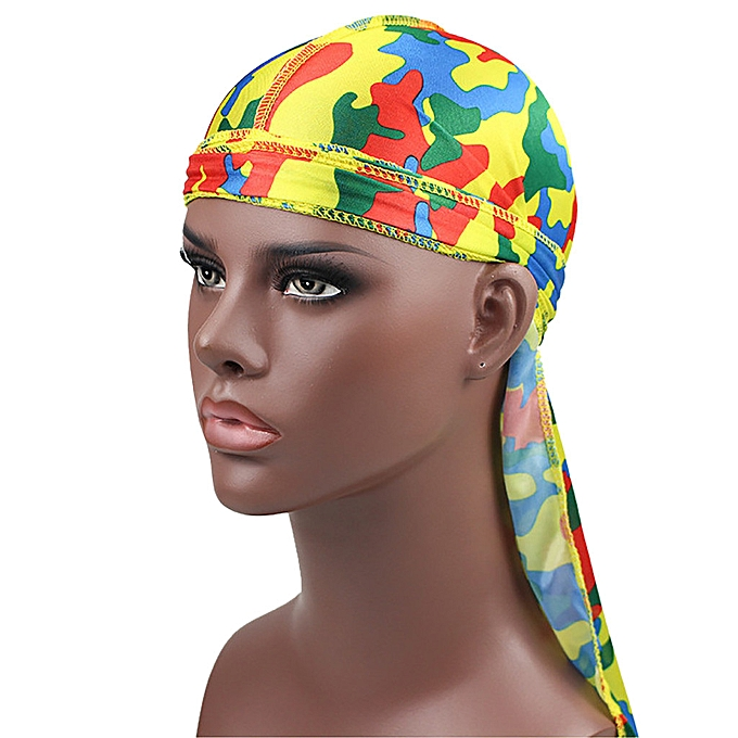 558d061761d Long Tail Satin Print Turban Hijab Cap Hair Accessories Chemo Hat For Men  Women yumisok ...