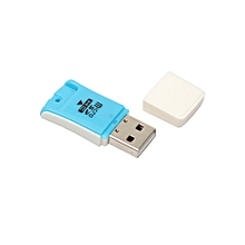 jiuhap store High Speed Mini USB 2.0 Micro SD TF T-Flash Memory Card Reader Adapter-Blue