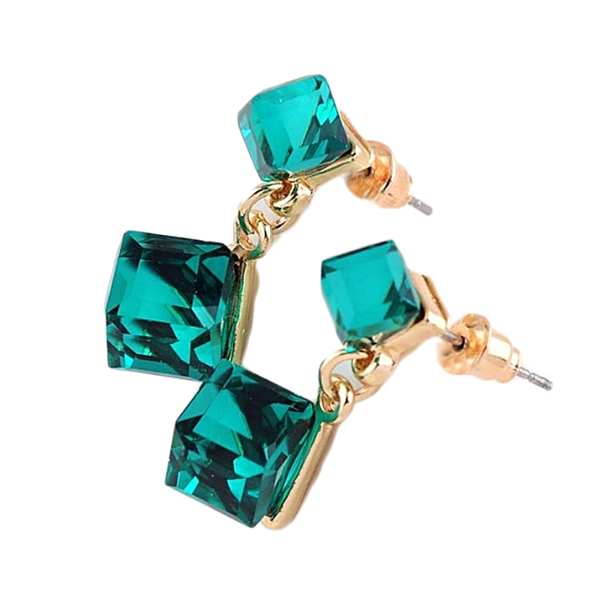 2 Pcs Pair Fashion New Crystal Rhinestone Austrian Earrings Ear Studs For Women