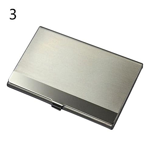 Buy universal fine stainless steel pocket name credit id business fine stainless steel pocket name credit id business card holder metal box case silver pattern 3 reheart Images