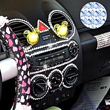 140 PCS Square + 308 PCS Round Glitter Crystal Diamond Decoration / Shining Rhinestone Sticker for Car Sticker & Cell Phone Ornament(Blue)