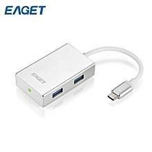 EAGET CH11 4-port USB-C Hub Type-C Portable Splitter_SILVER