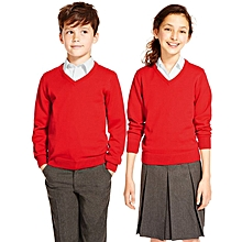 School Sweater - Red