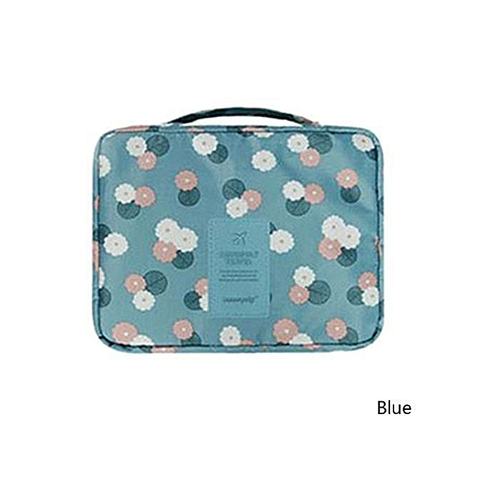 b896f07b8f91 Flower Polyester Zipper New Portable Double Layer Ladies Cosmetic Bag  Function Waterproof Travel Bag
