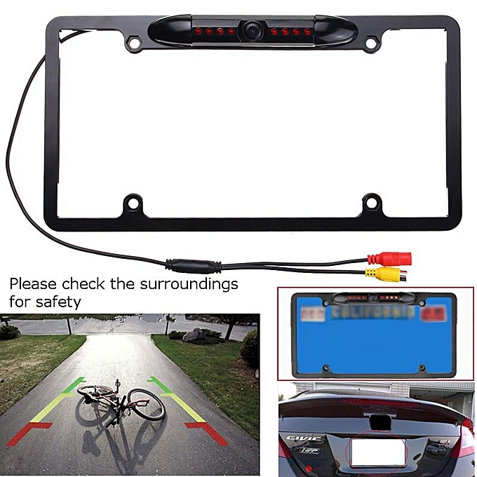 Buy Generic Car Rear View Backup Camera 8LED IR Night Vision US ...
