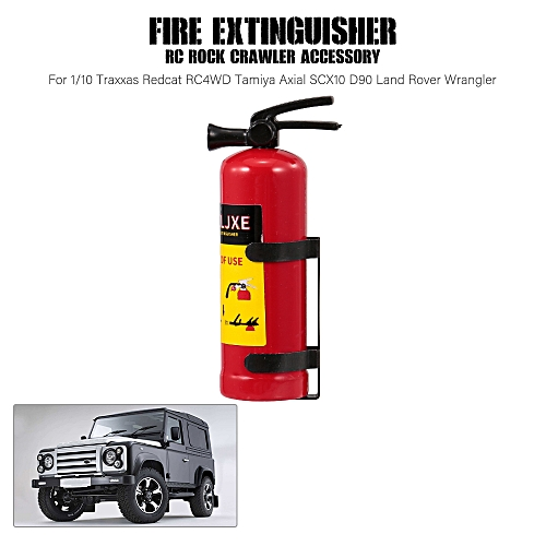 Fire Extinguisher RC Rock Crawler Accessory for 1/10 Traxxas Redcat RC4WD  Tamiya Axial SCX10 D90 Land Rover Wrangler