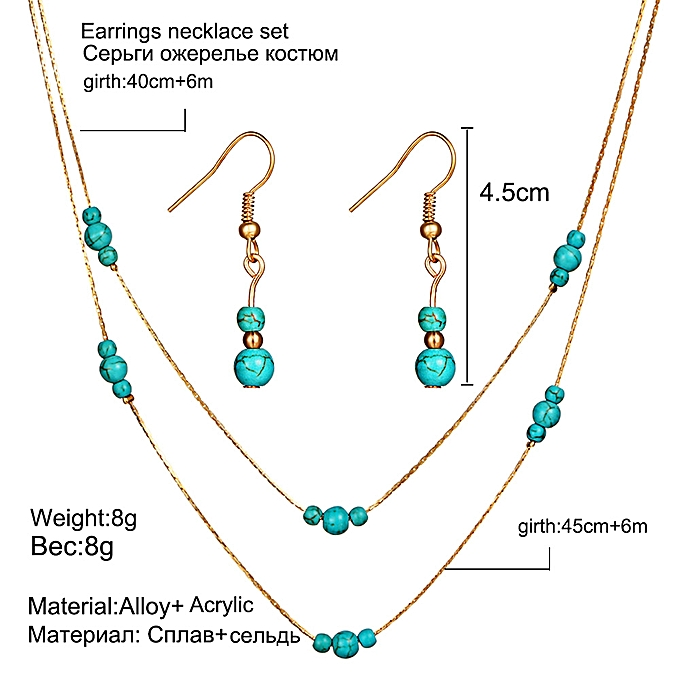 Turquoise Aqua Fashion Necklaces & Pendants 5cm Acrylic Heart Necklace with 45cm Chain Fashion Jewelry