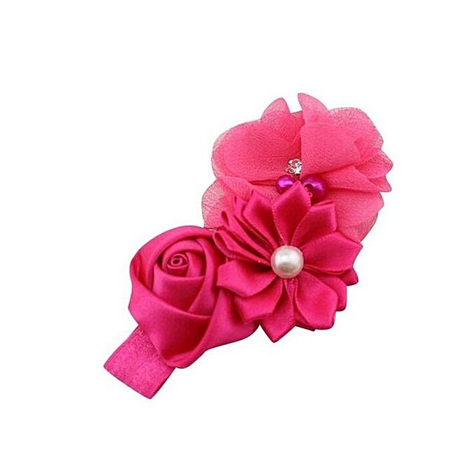 Fashion Fohting Baby Girl Flower Pearl Flower Hair Band Headband
