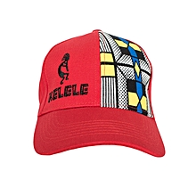 Red And Blue Baseball / Sports Hat With Kelele Color On Panel