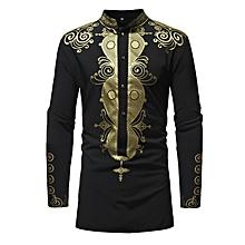Royle Shirts Dashiki Men Shirts - Black