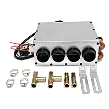Car Underdash Compact Air Conditioning Heater 12V Heat w/ Speed Switch Kit