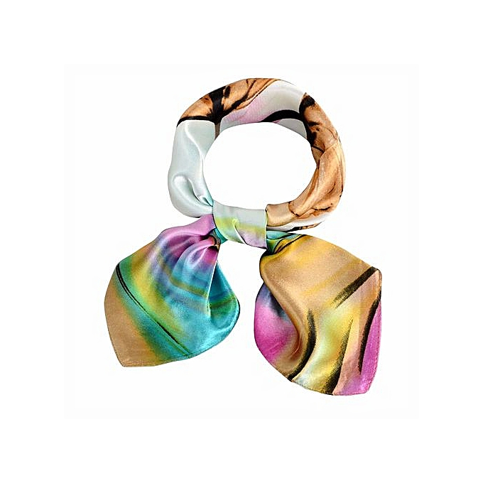 f6ca210fb Hiaojbk Store Women Ladies Printing Pattern Square Scarf Warm Wrap Shawl  Tie Scarf YE-Yellow