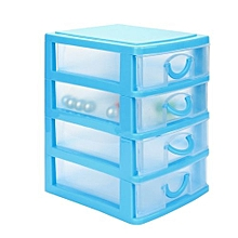 Durable Plastic Mini Desktop Drawer Sundries Case Small Objects Blue