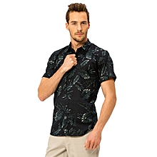 Floral Navy Fashionable Skinny Shirt