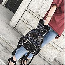 Fashion Girls Sequins Backpack Women Leisure School Bag Travel Pack Backpacks BK