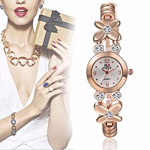 Women's Stainless Steel Band Analog Quartz Fashion Dress Bracelet Wrist Watch