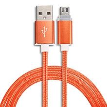 LED Light Micro USB Charger Cable Data Charging Cord For Samsung galaxy s7-Orange