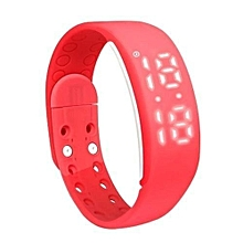 W2 Smart Bracelet Pedometer Sleep Monitor Calories Burned Fitness Watches(Red).