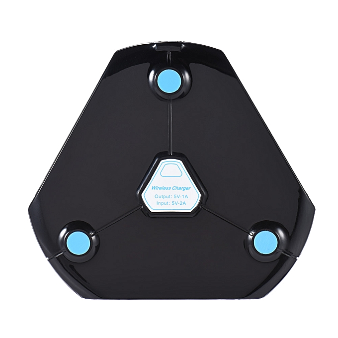 Portable Qi Wireless Charging Pad Triangle Ultra Slim Qi Charger  Transmitter with Breathing Light for Samsung Galaxy S7 S6 Edge Plus LeTV  One Max Pro