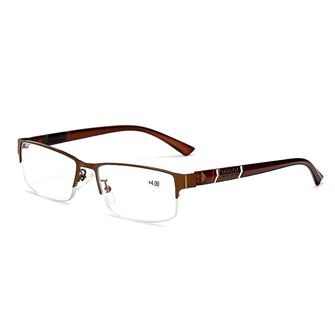 9e972eedeb ... Stainless Steel Resin Lens Reading Glasses Half Frame Presbyopic Glasses  ...