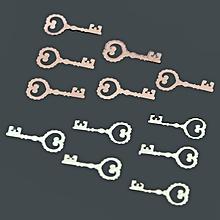 800-1000pcs 3D Lovely Key Shaped Mental Nail Art Decoration Sticker Mini DIY Design
