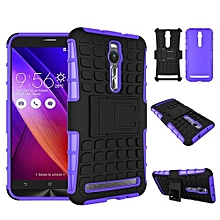 "ZE551ML Case, Hard PC+Soft TPU Shockproof Tough Dual Layer Cover Shell For ASUS 5.5"" Zenfone 2, Purple"