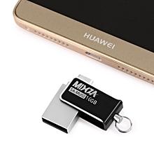 SA - MU02 16GB OTG USB Flash Drive with Micro USB Port - Black