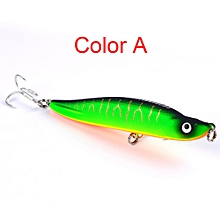 1PC Fishing Lures 10cm Plastic Hard Bass Baits 10 Colors Minnow Lures